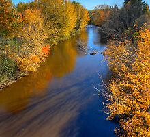 HDR Apohaqui River Autumn by Jamie Roach