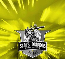 Part-Time Dragon Slayer - Yellow by ACImaging
