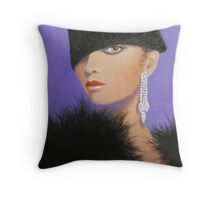 A LADY IN THE FASHION MODE Throw Pillow
