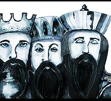 3 Kings Christmas card by Jenny Wood