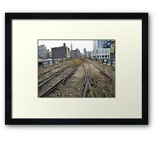 High Line, Abandoned Railyards Section, New York Framed Print
