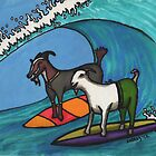 Surfing Goats by FedericoArts