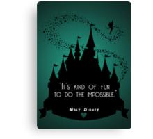 Disney Princess Castle Quote Canvas Print
