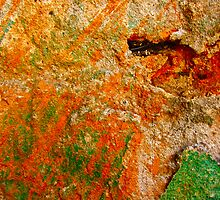 """Green and Orange Abstract"" by AlexandraZloto"