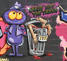 "Street Art: ""Takin' Out The Trash"" by aussiebushstick"