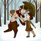 Mr. Tumnus and Lucy by Jessie Sima