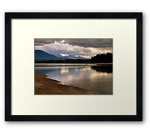 reflecting at the river Framed Print
