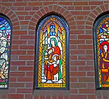 A Trio of Stained Glass by Graeme  Hyde