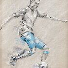 Alex Oxlade-Chamberlain - original drawing by Paulette Farrell