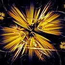Golden Flower Star by Art-Motiva