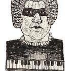 Classical music dude with eye mask by aceshirt