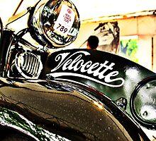 Velocette M Series vintage motorcycle by htrdesigns