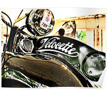 Velocette M Series vintage motorcycle Poster