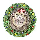 Holiday Hedgehog ~ Season&#x27;s Greetings! by Tamara Clark
