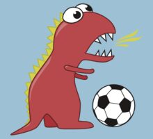 Funny Cartoon Dinosaur Soccer Shirt by Boriana Giormova