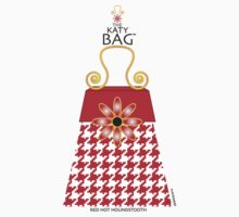 The Katy Bag / Red Hot Houndstooth by Susan R. Wacker