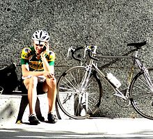 San Francisco Cyclist by Michael J Armijo