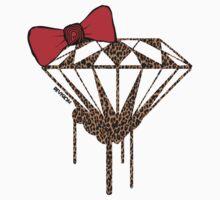 DIAMOND WITH A BOW TIE W/ LEOPARD PRINT :D by Melanie Andujar