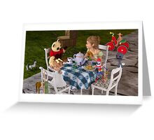 The Toy Tea Party Greeting Card