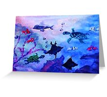 What is under the sea today, watercolor Greeting Card