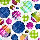 Plaid Polka Dots (iPhone) by Maria Dryfhout