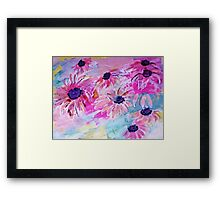 Life is so sweet, flowers to make your day happier, watercolor Framed Print
