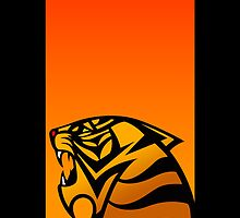Tiger Emblem Orange/Red - (iPhone) by Adam Angold