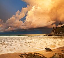 Sunset storm at Broken Head, NSW by Dave Ellem