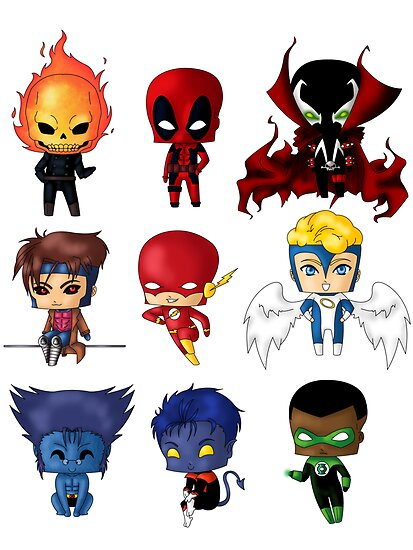 Chibi Marvel Heroes http://www.redbubble.com/people/artwaste/works/9529639-chibi-heroes-2