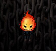 Chibi Ghost Rider by artwaste