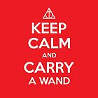 Keep Calm & Carry a Wand iPhone Case by wittytees