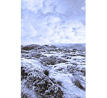 ruin in irish winter christmas landscape Photographic Print