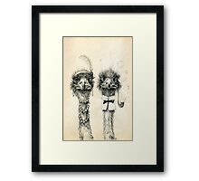 Mr. and Mrs. Ostrich Framed Print
