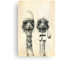 Mr. and Mrs. Ostrich Canvas Print