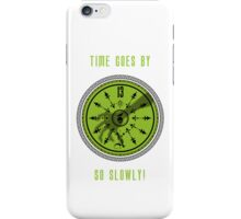 Time Goes By, So Slowly 13th Hour Clock iPhone Cover in White by Topher Adam iPhone Case/Skin