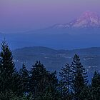 The Moon Beside Mt. Hood by Don Schwartz