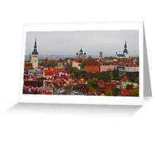 Atop Turreted Tallinn Greeting Card