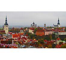 Atop Turreted Tallinn Photographic Print