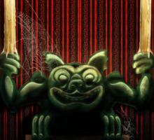 Haunted Mansion Gargoyle Design by Topher Adam Sticker
