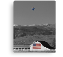 America The Beautiful The Banner Of The Free BWSC Canvas Print
