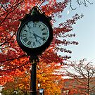 Clock at Keene Pumpkin Festival by Mitchell Grosky