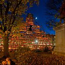 Night Scene at Keene Pumpkin Festival by Mitchell Grosky