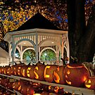 Gazebo and Pumpkins at Keene&#x27;s Pumpkin Festival by Mitchell Grosky