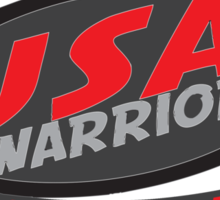usa warriors motorcycle by rogers bros Sticker