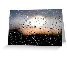 Rain Drops on window 3 Greeting Card