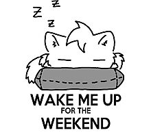 Wake Me Up For The Weekend! (gray) Photographic Print