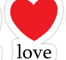 Peace Love Basketball Sticker