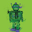 Green Splattery Toy Robot Shirt or iPhone Case by thedailyrobot
