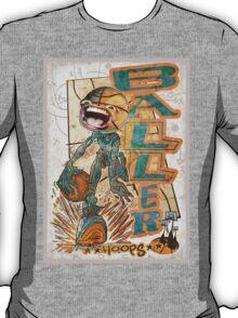 Baller Basketball Hoops Head T-Shirt