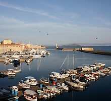 Harbor in Chania by dimpdhab